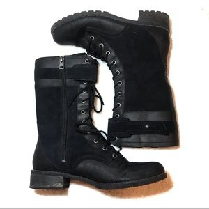 Timberland Size 8.5 Black Calf Boots Field Style